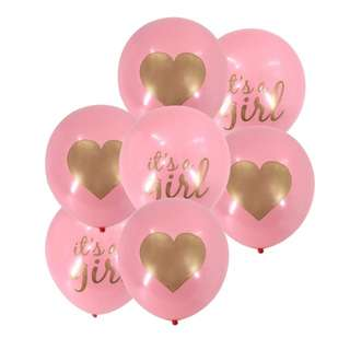 10pcs  Girl Baby Shower Balloons