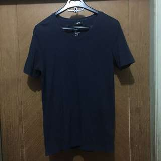 H&M Navy V-Neck Tee