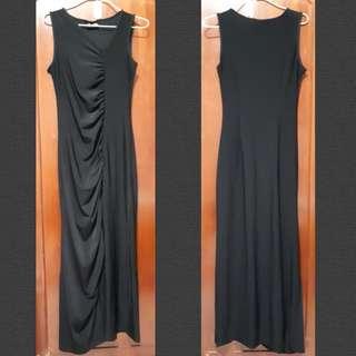 Long asymmetric evening dress