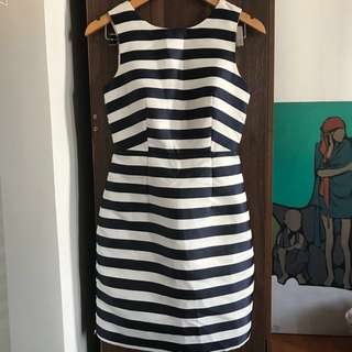 Striped Structured Dress
