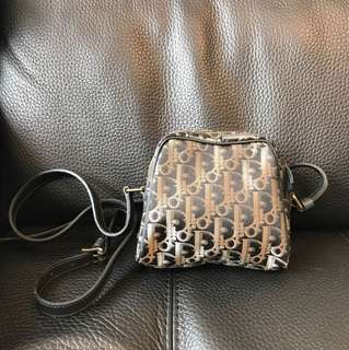 Christian Dior Vintage Jacquard Shoulder Bag