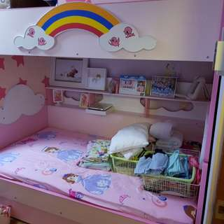 Princess double bunk bed