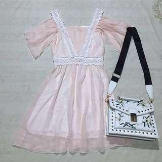 REPRICED!!! Peachy Coldshoulder Dress