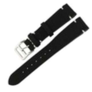 Tali Jam Tangan Stylish Kulit Watch Strap Leather Suede 20mm Black