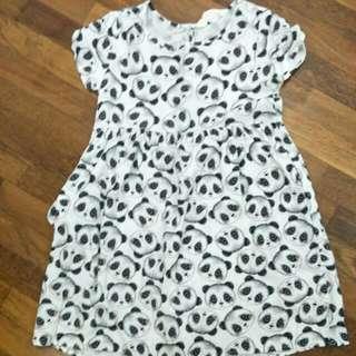 H&M panda dress 5-6 yrs