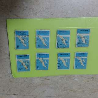 Singapore used vintage stamps
