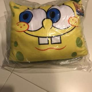 Spongebob pillow/ neck pillow