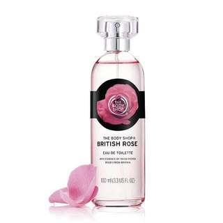 Parfume British Rose Body Shop ( EDT british rose ) orginial ( Harga dibawah counter)