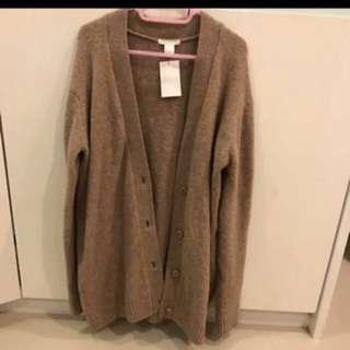 🚚 H&M 全新駝色毛衣罩衫)D)