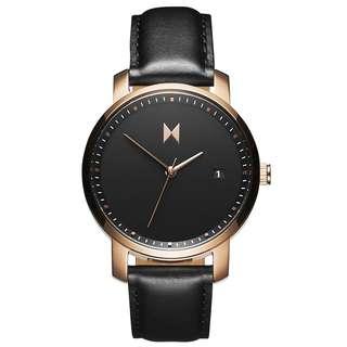 [NEW] Original MVMT Watch Signature Series - Rose Gold/Black Leather