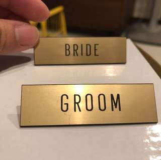 Bride and Groom tag