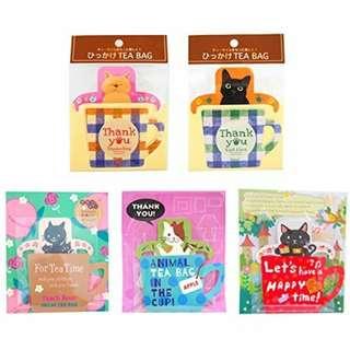 日本 ひっかけCAT 貓咪 紅茶包 Tea Bag 5種類 情人節 禮物