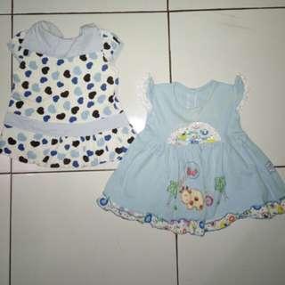 Baby blue dress 2pcs