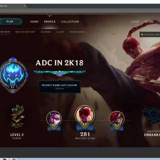 League of Legends Account PH server