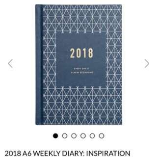 Kikki-k 2018 A6 Weekly Dairy (Inspiration)