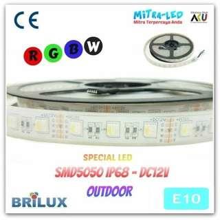 LED STRIP SMD 2835 12V IP 66/68 RUBBER TUBE RGB 12 WARNA BRILUX