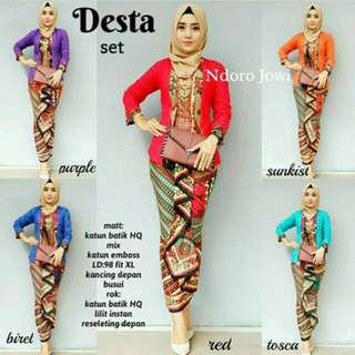Baju 1 set batik real pict