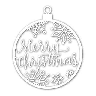 Simon Says Stamp Merry Christmas Ornament Wafer Die