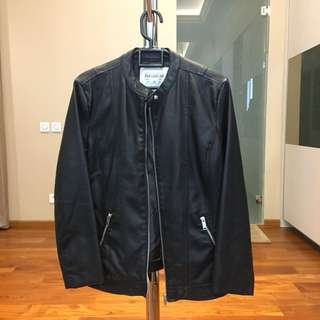 Pull & Bear Leather Bike Jacket