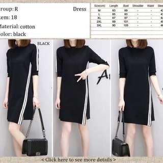 Black dress new - L size