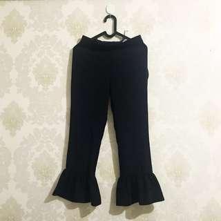 Zara ruffle bell pants