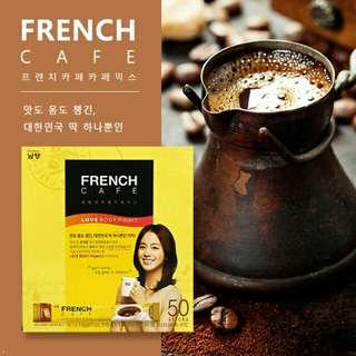🚚 FRENCH CAFE 金泰熙代言 法式脫脂濃縮咖啡重量裝 50包入 545g