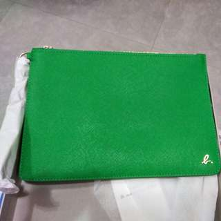 Agnes b green pouch