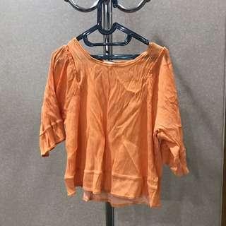 Zara - orange casual top
