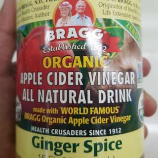 Bragg Organic Apple Cider Vinegar Ginger Spice