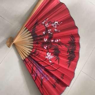 Chinese folding Fan for Wall Decor