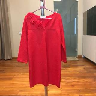 Dress Merah Hongkong