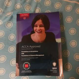 Acca approved foundation in accountancy FFM BPP practice and revision kit