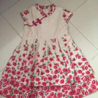 Cheongsam dress anak