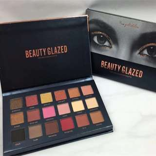 18 Color Natural Shimmer Matte Eye Shadow Makeup Burgundy Eyeshadow Palette Textured Eyeshadow Palette By Beauty Glazed