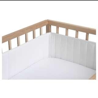 Ikea baby cot bumper pad white