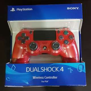 PS4 controller sealed Magna Red
