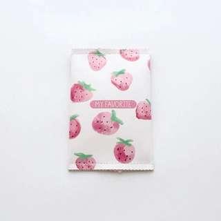 拉鍊草莓迷你零錢包