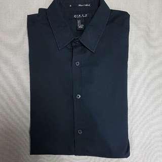 Forever21 Slim Fit Long Sleeves  (Black)