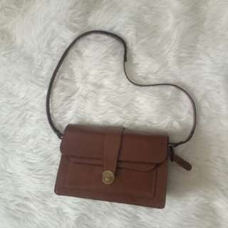 Reprice Sling bag topshop leather