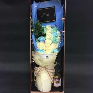 Le Fiori 淺藍香檳玫瑰禮盒