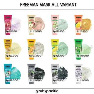 FREEMAN MASK MASKER ORIGINAL READY STOCK All Variant Charcoal Mud Lemon Mint Apple Diamond