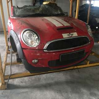 Mini Cooper s / 1 sell front nosecut & Rh&Lh Bonnet full set