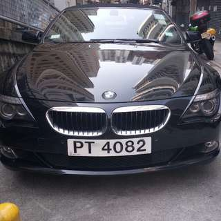 BMW 630i convertible 2008 rent for day and mouth