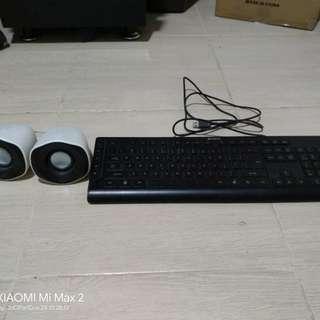 Speaker and Keyboard