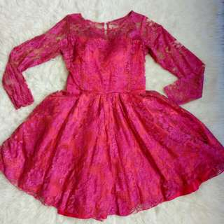 DRESS BRUKAT PINK FANTA