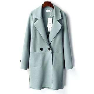 韓版新款秋季女裝寬鬆上衣百搭中長款休閒風衣外套 顏色