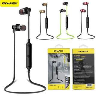 AWEI A990BL Sport Stereo In-Ear Headset Earphone 運動藍牙耳機 Support Hands-free Calling for Smartphones For iPhone