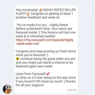 HIGHLY RATED SELLER ❤ Thank you Carousell!