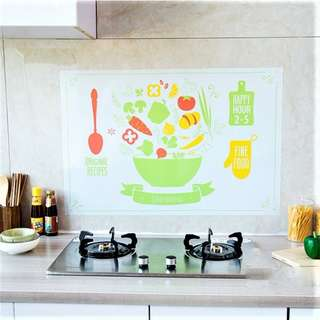 Self-Adhesive Stove Wall Tiles Stickers - Green Bowl