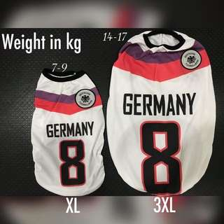 Dogs Jersey - small to big dogs (Germany)
